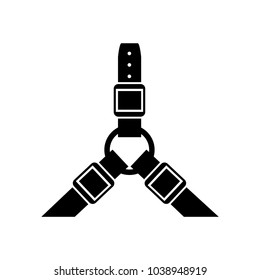 harness collar icon, Vector illustration