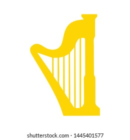 harp  icon. Logo element illustration. harp  design. colored collection.harp  concept. Can be used in web and mobile