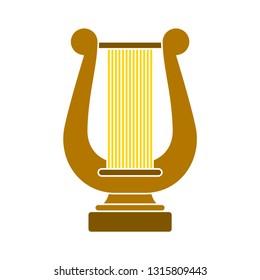 harp icon. music instrument symbol. sound musical harp
