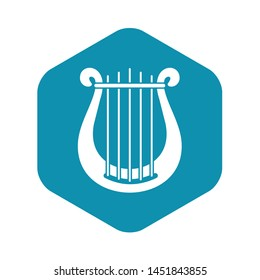 Harp icon. Simple illustration of harp vector icon for web