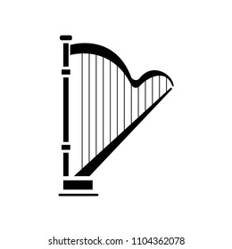 harp icon vector icon. Simple element illustration. harp symbol design. Can be used for web and mobile.
