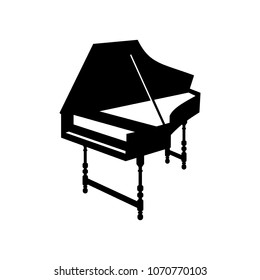 Harpsichord, big musical instrument icon