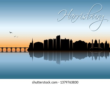 Harrisburg skyline - United States of America, Pennsylvania, USA - vector illustration