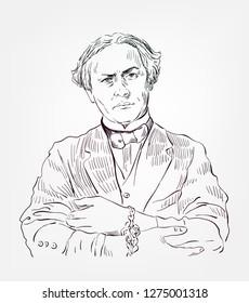 Harry Houdini vector sketch portrait famous