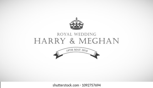 Harry and Meghan royal wedding card.