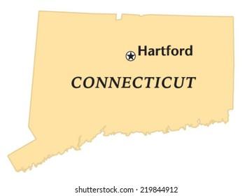 Hartford, Connecticut locate map