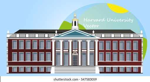 Harvard University. Vector Illustration. Flat design.