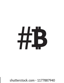 Hashtag beside Bitcon.