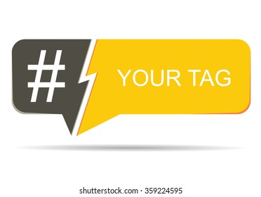 Hashtag, communication sign. Abstract illustration for your design.