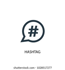 Hashtag icon. Simple element illustration. Hashtag symbol design from Social Media Marketing collection. Can be used in web and mobile.