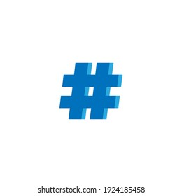 Hashtag icon. Social media target symbol. Logo design element