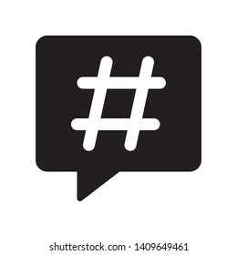 Hashtag icon in trendy flat style design. Vector graphic illustration. Suitable for website design, logo, app, and ui. EPS 10.