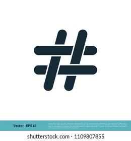 Hashtag Icon Vector Logo Template
