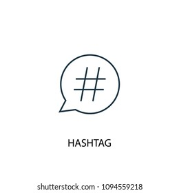 Hashtag line icon. Simple element illustration. Hashtag symbol design from Social Media Marketing collection. Can be used in web and mobile.