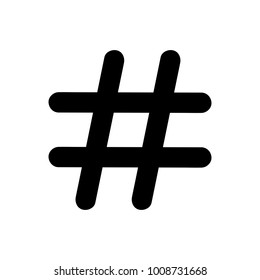 Hashtag sign icon vector illustration on white background