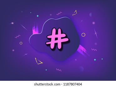 Hashtag signs. Element for social media networks. Vector illustration.