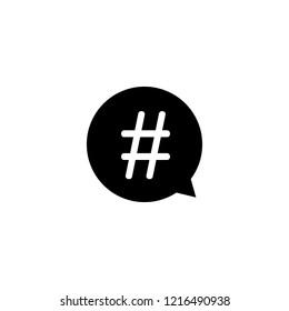 hashtag in speech bubble