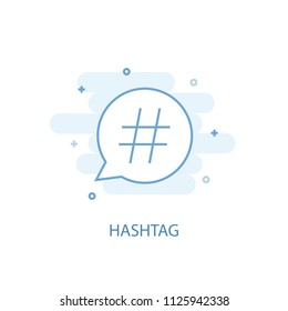 Hashtag trendy icon. Simple line, colored illustration. Hashtag symbol flat design from Social Media Marketing set. Can be used for UI/UX