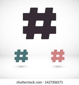 hashtag  vector icon 10 eps , Lorem ipsum Flat design