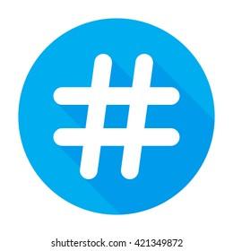 Hashtags Icon Flat tweet vector social media community sign/symbol