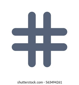 Hashtags Icon Vector flat design style