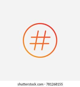 d7c09b8c93e Hastag icon.gradient illustration isolated vector sign symbol