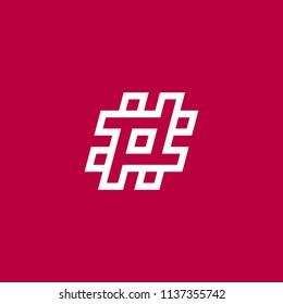 2ede52087b9 Hastag logo design inspiration