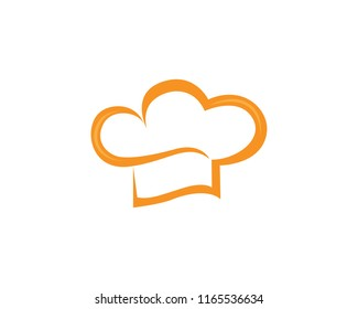 Hat chef  logo and symbol vector template