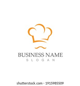 hat chef logo vector illustration template design