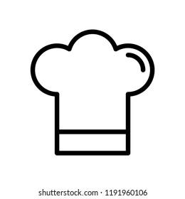 hat chef restaurant food icon line arts vector template on white background
