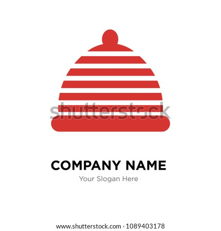 hat company logo design template business stock vector royalty free