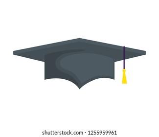 hat graduation isolated icon