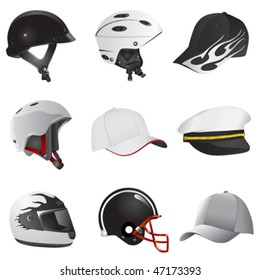 hat and helmet