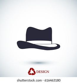 Hat icon, vector best flat icon, EPS