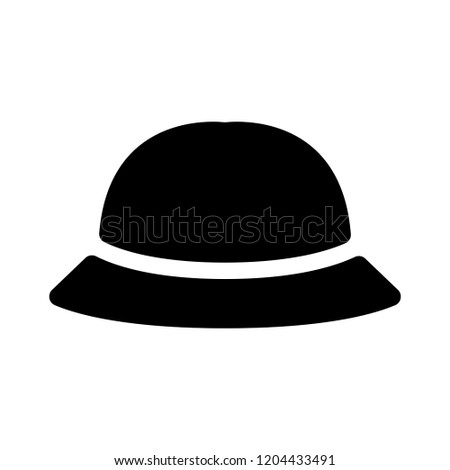 hat icon vector bowler