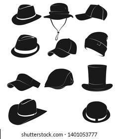 Hat icons set.Vector - Vector illustration