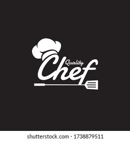 hat Kitchen design with chef tool in lettering art