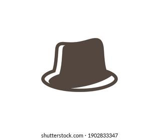Hat logo cowboy old vector