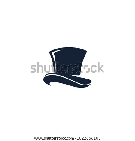 Hat logo vector abstract