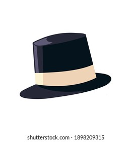 hat for men accessory fashion vintage icon design cartoon vector illustration