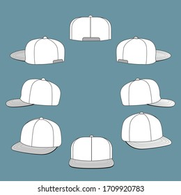 hat side template design drawing