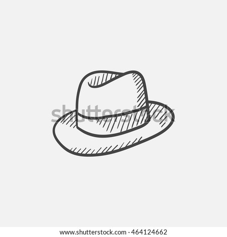 f392cbc2009 Hat Sketch Icon Web Mobile Infographics Stock Vector (Royalty Free ...