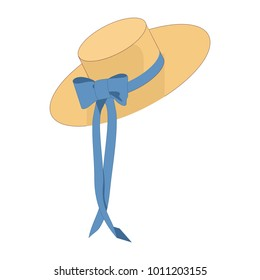 hat from the sun with a bow