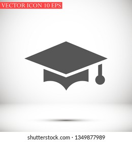 hat for the university vector icon 10 eps