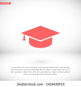 hat for the university vector icon 10 eps , Lorem ipsum Flat design