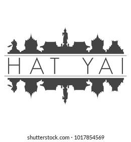 Hat Yai Skyline Vector Art Mirror Silhouette