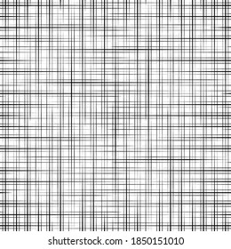 Hatch cross seamless pattern. Criss texture. Linen background. Abstract rondom line. Intersecting lines. Grid cross criss fabric. Hatch cross textile. Geometric shading stripe. Linen stripes. Vector