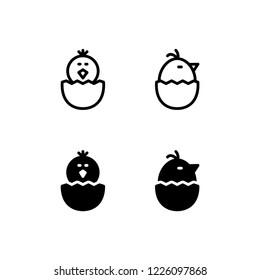 Hatch Icon Logo Vector Symbol. Chick Icon