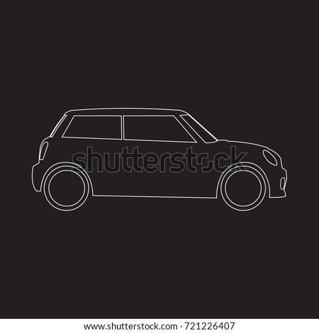 Hatchback mini car icon