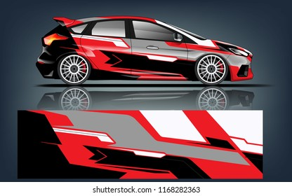 Hatchback racing car wrap vinyil and decal
